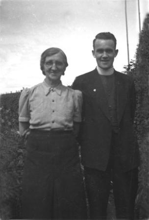 fr pat kenny with his aunt margaret kenny mcnamara